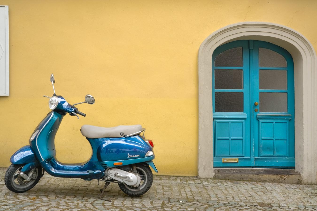 Nooit meer in de file met een mooie Vespa scooter