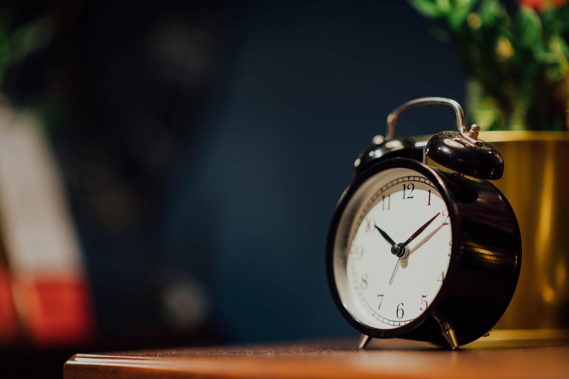 Voorkom verslapen en gebruik een wekker